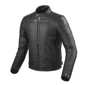Revit Lane giacca pelle nera