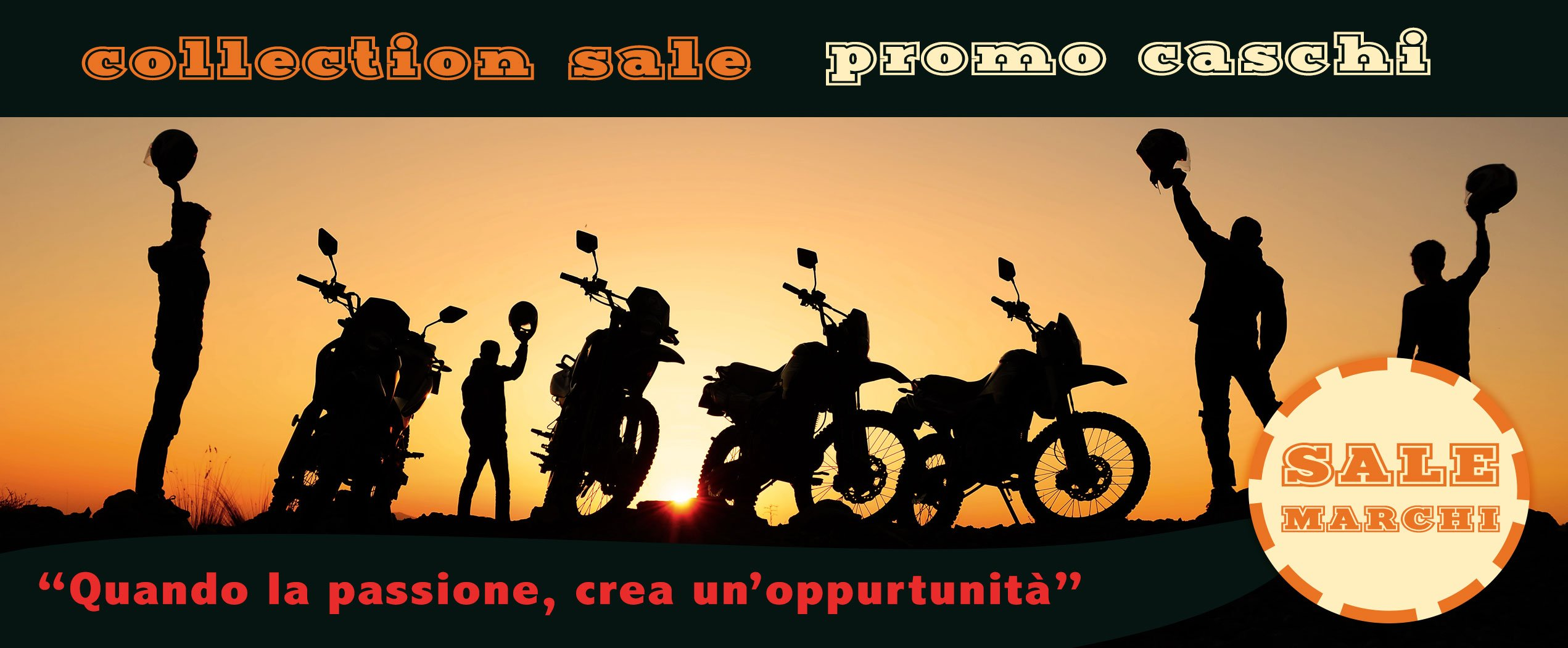 collection sale promo caschi